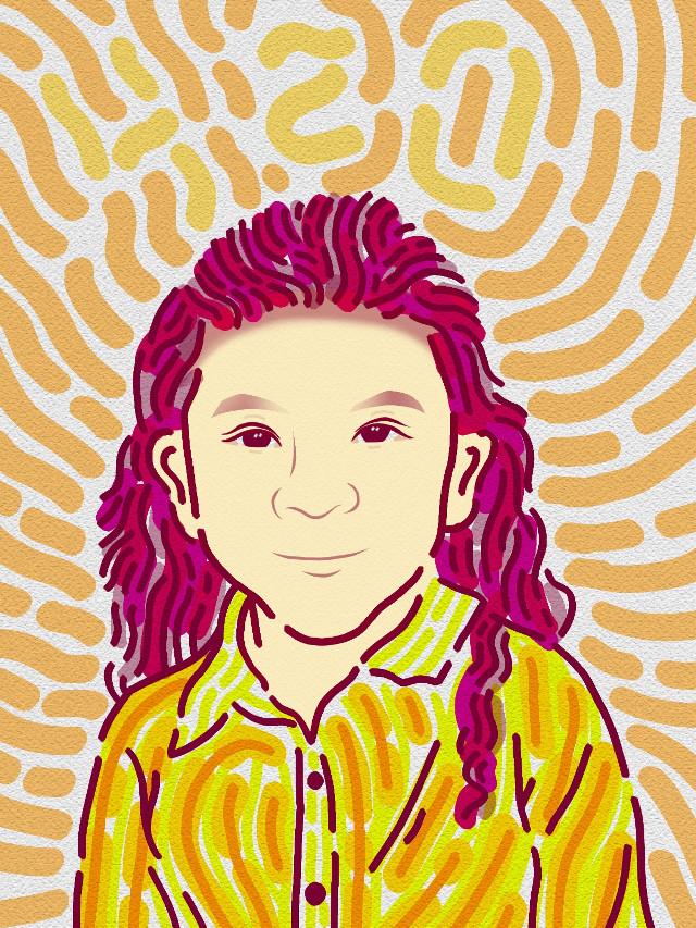 Ehehe . 🌈 . #illustration #portrait #girl #kids #madewithpicsart #art #drawing #handmade #drawonphoto #digitalpainting #gambardihape #pang #freetoedit