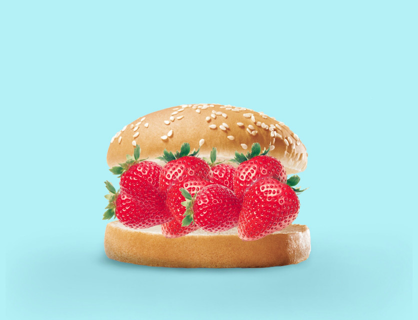 #freetoedit Strawberry Burger 🍓🍔