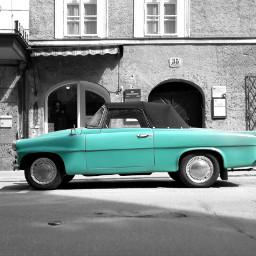 blackandwhite colorsplash streetphotography car oldtimer