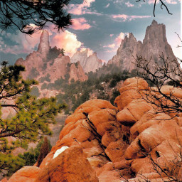 freetoedit coloradosprings colorado mountains oldphoto scanned