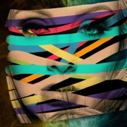 freetoedit portrait tapes colorful myedit