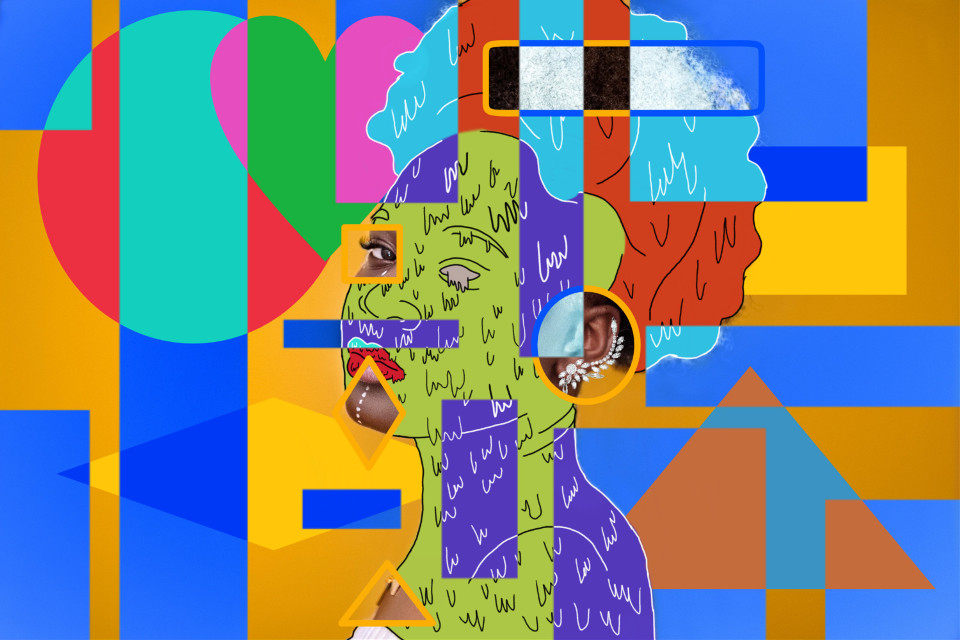 Illusionist... #freetoedit #ecgrimeart #grimeart #grime #negative #shapes #geometric #geometry #colors #drawn #drawing #woman #beauty #frame #colorpick #aesthetic