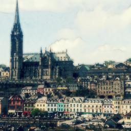 photography landscape city ireland pastel