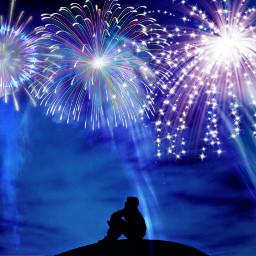 freetoedit fireworks alone lomoeffect smoke ircsilhouettes
