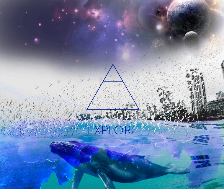 #freetoedit #water #dispersion #stickers #galaxy #whale #glyphs #magicsmoke -- Yeesh, sorry I've been gone so long. Exams and such.