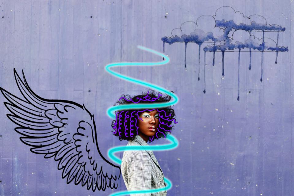 #freetoedit #blackwoman #purple #rain