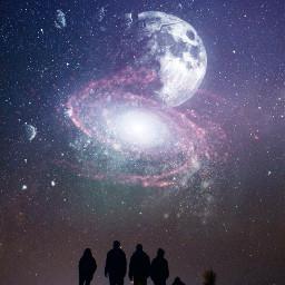 freetoedit moon galaxy surreal broken