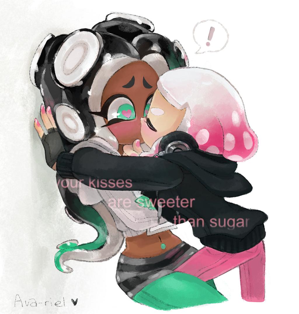 Splatoon2 Pearl Marina Kiss Cute Image By Leanne