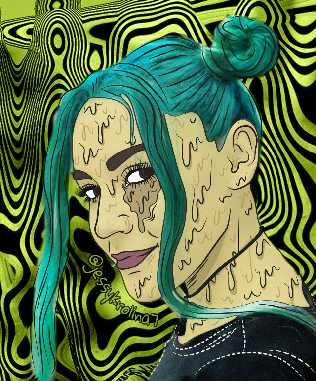 Follow me on Instagram ➡@jessykrolina7 ////Oxysofy💚  #grimeart #grimeeffect #grime #photography #drawing #picsart #edit #sofiacastro