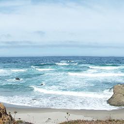 panorama beach shoreline bluesky california pcbeaches