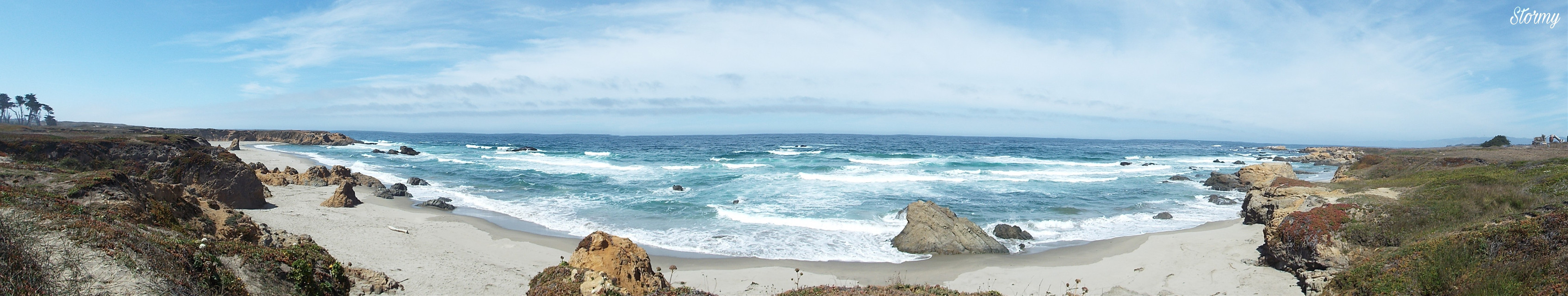 #panorama #beach #shoreline #bluesky #california #norcal #northerncalifornia #calilove #myphoto  #originalphotobyme #stormEday