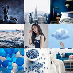 aesthetic blue yeonwoomomoland collageart