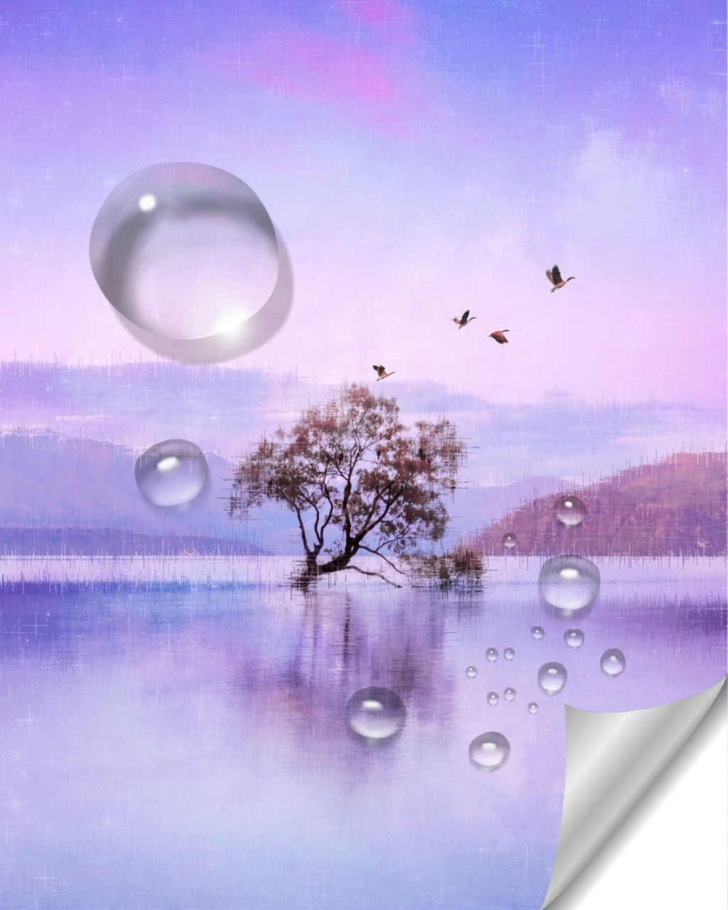 #freetoedit #drop #landscape #purplesky