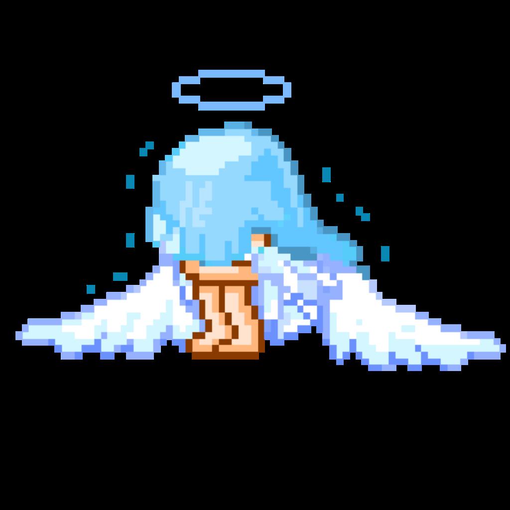 Cryinggirl Crying Crybaby Sadgirl Angel 8bit Pixel