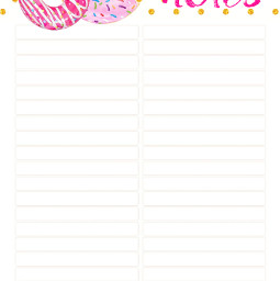 paper notes donuts pink stationary freetoedit