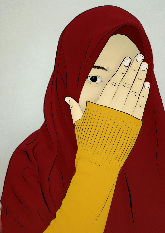 hijab jilbab kartunmuslimah cartoon islam muslimah iseeyou icansee