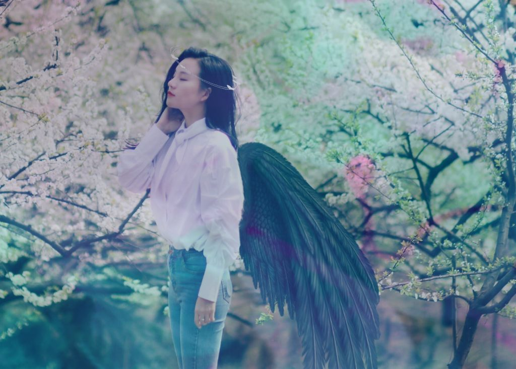 #freetoedit #girl #color #wings #love
