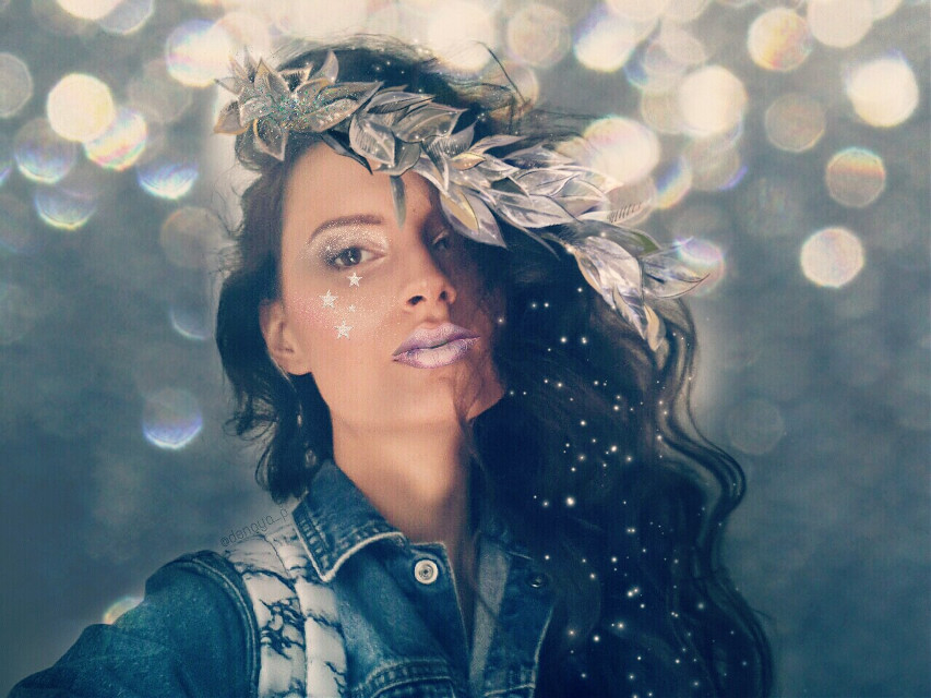 #makeup #glitter #glam #bokeh #details #icequeen #freetoedit @pa☺