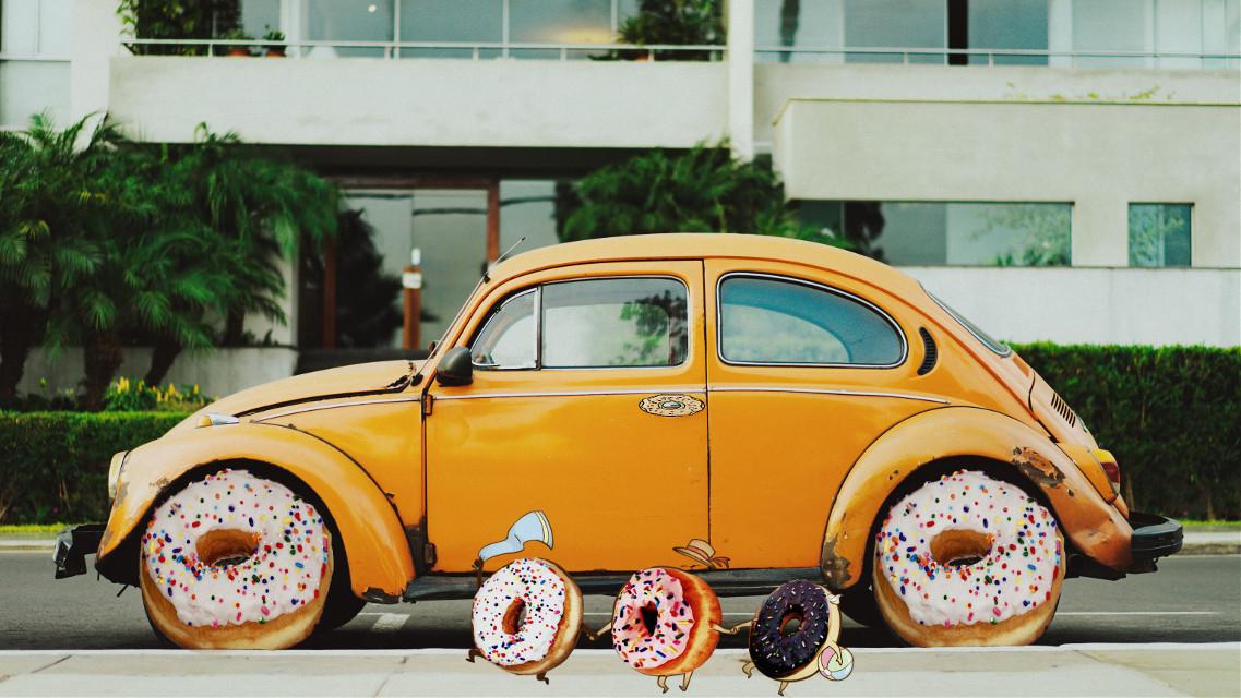 #freetoedit #rimixit #car #donut #photoshop #drive