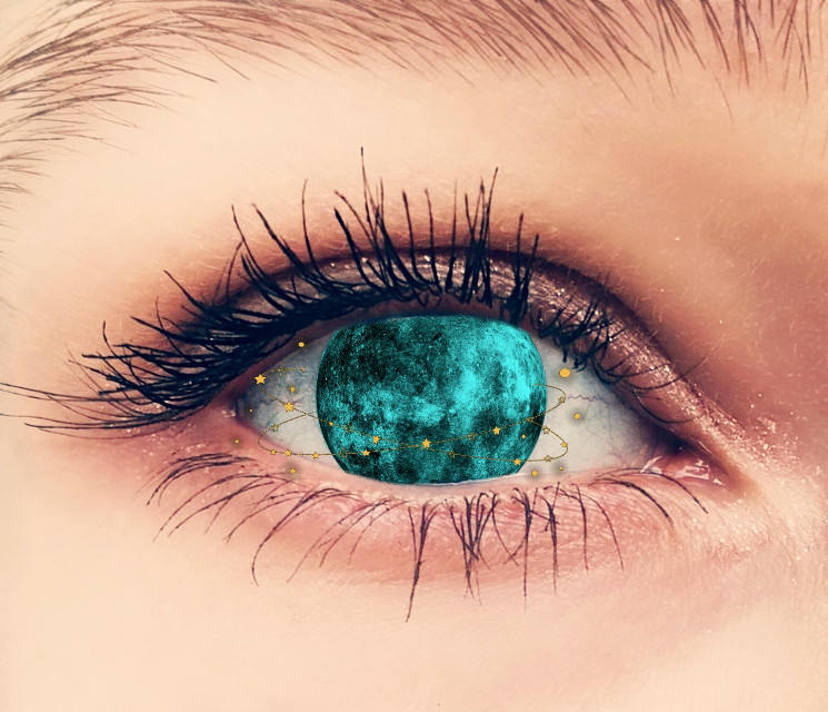 #freetoedit #eye #moon #space #planet