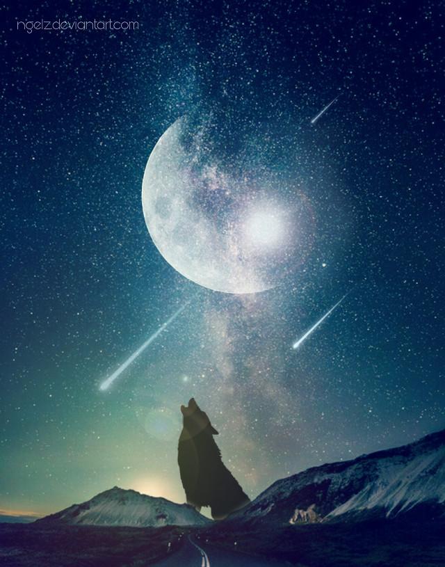 Blue Night #madewithpicsart #imagination #deviantart #creative