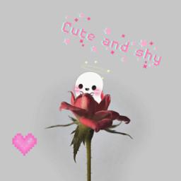 freetoedit cute redrose cuteandshy heart ircredrose