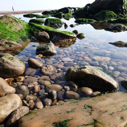 rockpool lowangle beach seaview seafront freetoedit