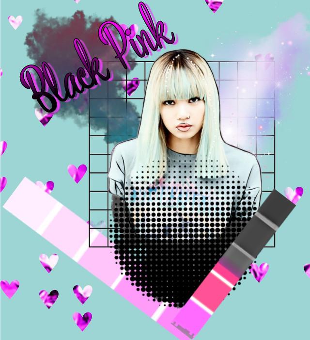 #freetoedit #blackpink #pretty #black #pink #blackpinklisa