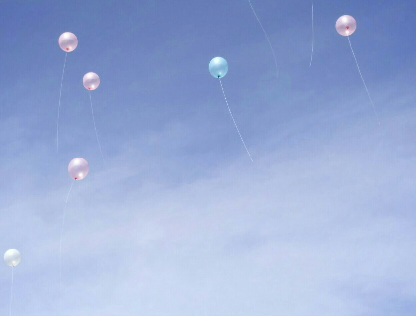 🎈☁  #freetoedit #sky #balloons #myphotography