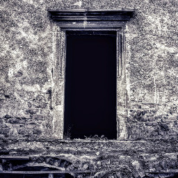 freetoedit ruins door old blackandwhite