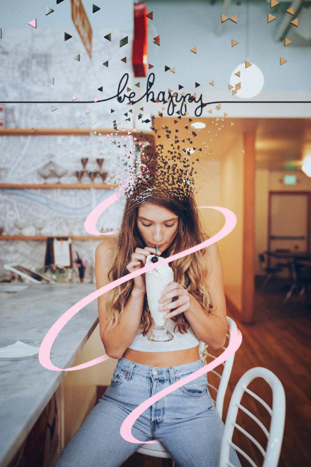 #girl #drinks #icecream #behappy #be_creative #followme