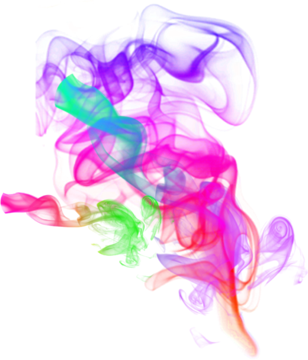art designs colorful smoke effects sticker