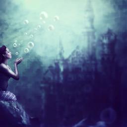freetoedit mermaid sea bubbles edit