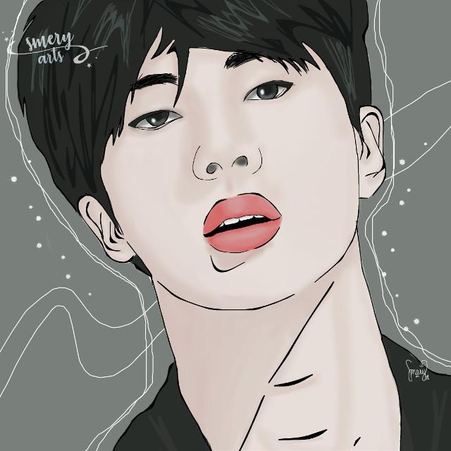 Jin outline draw 🙈 I hope you like it guys!! 🙈💕  . . . . . . . #kpopedit #kpop #jin #jinnie #seokjin #kimseokjin #jinbts #bangtanboys #bangtan #bts #btsedit