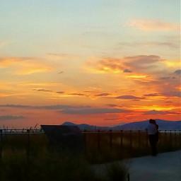 sky sunsetsky sunset greece