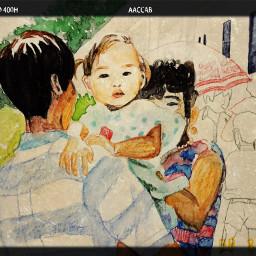 art drawing picnic illustration baby