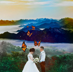 freetoedit married weddingday couple doubleexposure ircjustmarried