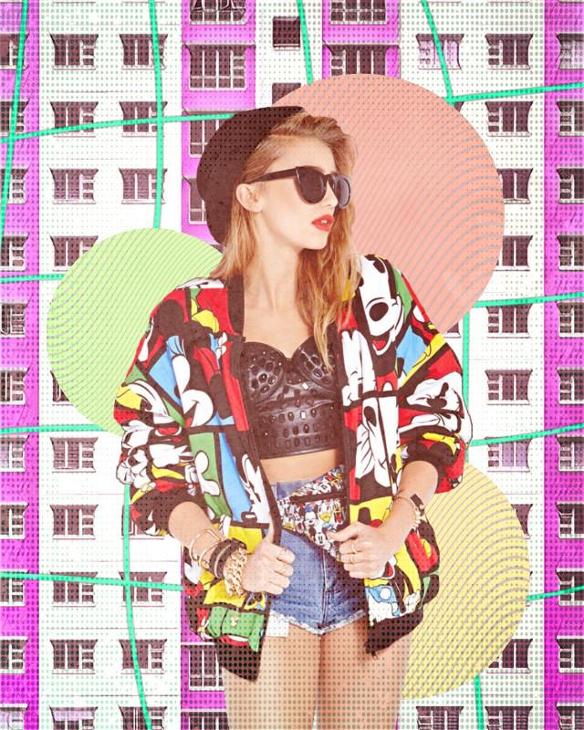 #freetoedit #colorful #cartoon #circles #windows #stripes #dots #comic #colors #girl #woman #bright #building #neon #rainbow #hoodie #sunglasses #model #beanie #crisscross  #remixit