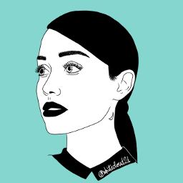 arianagrande outlineart mydrawing drawnbyme girl blackandwhite madewithpicsart mintgreen singer becreative