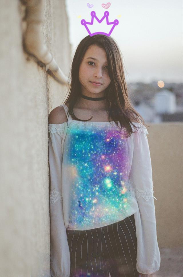 #freetoedit #myedit #girl #galaxy #crown