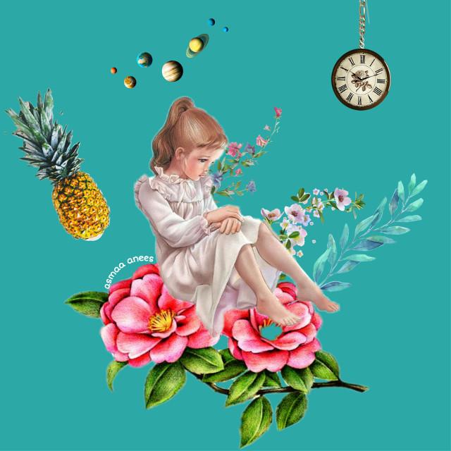 #freetoedit #flowers #girly #girltumblr #clockface #pineapple #blue #beatiful #colorful #myedit #mydesign #roses #picsart