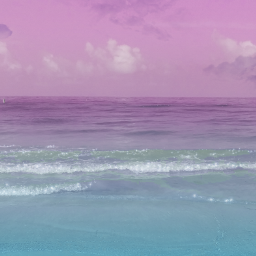 beach pink ocean paradise freetoedit
