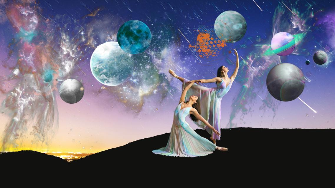#freetoedit #ircmeteorday #sky #ballerina #planets #stars #meteorshower #remixit #challengeoftheday