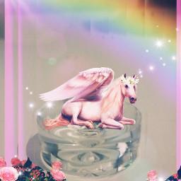 freetoedit unicorn rainbow shine flowers