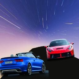 freetoedit racetrack cars desert distortedart ircmeteorday