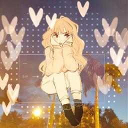 freetoedit cute hearts allthesmallthings girl