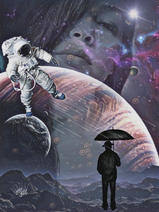 #editedbyme #galaxy #doubleexposure #imagination #surreal #digitalart #artisticselfie #remixed from @sevcanss1905