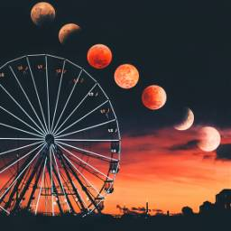 eclipse cochella moon orange usa ecomnomadventure freetoedit