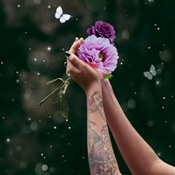freetoedit srcfridaflowercrown fridaflowercrown sparklesbrush