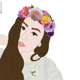 freetoedit artofinstagram skecth lineart digitalartwork srcfridaflowercrown